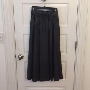 Zara faux leather pleated skirt, sz xs